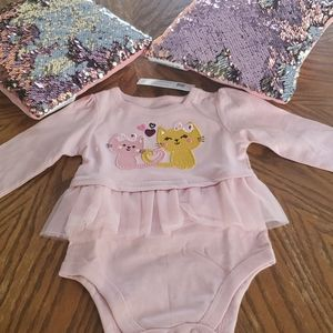 Baby light pink peplum body suit